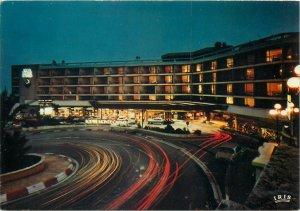 Postcard Monaco Loew hotel monte carlo cote d'azur cliche maestri night view