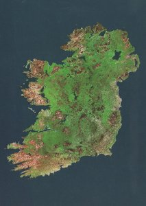 Ireland From Outer Space Irish Rare Astronomy Map Postcard
