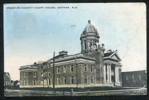 Dothan Alabama al Houston County Court House postcard #3