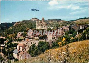 Postcard Old Saint Nectaire High P D General view Romanesque church