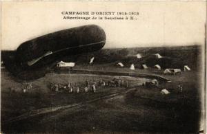 CPA MILITAIRE Campagne d'Orient-Atterrissage de la Saucisse (316374)