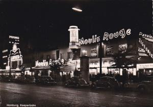 RP: Hamburg , Reeperbahn at night , Nightclubs , Germany , 30-40s