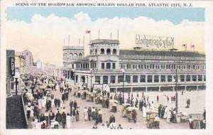 New Jersey Atlantic City Scene On The Boardwalk Showing Million Dollar Pier