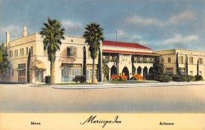 Mesa Arizona Maricopa Inn Street View Antique Postcard K33884