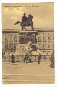 Milano, Italy, 00-10s   Monumento a Vittorio Emanuele
