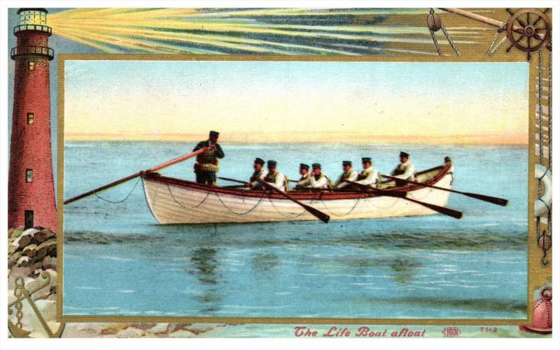Lighthouse  Coast Guard  series   - Life Boat Afloat