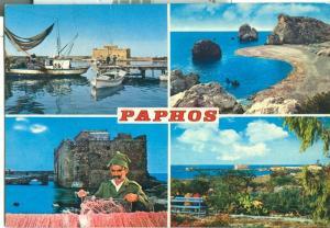 Cyprus, Paphos, used Postcard