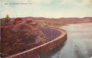 Cheyenne Wyoming~City Reservoir~1912 Postcard