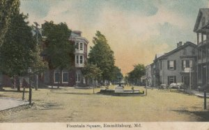 EMMITTSBURG , Maryland , 1909 ; Fountain Square