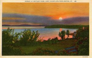 VT - Burlington. Battery Park, Lake Champlain