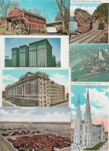USA - Chicago, New York, Niagara Falls and more Postcard Lot of 51  01.04