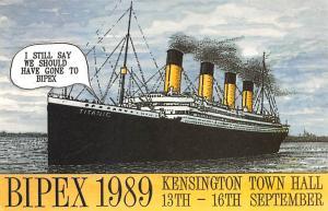 White Star Line Ship Postcard Old Vintage Steamer Antique Post Card Bipex 198...