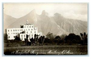 Postcard Hospital Muguerza, Monterrey NL Mexico RPPC Y62