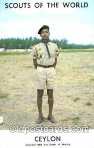 Scouts Of The World, Ceylon Scout Scouting Postcard Postcards  Ceylon