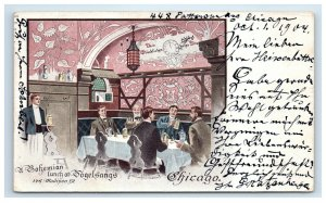 1904 Private Mailing Card Vogelsangs Restaurant Advertising Chicago IL Postcard
