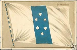 Ecuador, National FLAG (1910s) Embossed