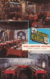 The Friar's Cellar Restaurant , LONDON , Ontario , Canada, 50-60s