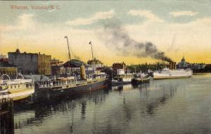 Steamers/Ships, Wharves, Victoria, British Columbia, Canada, PU-1909