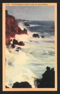 Rocky Coast Line California Unused c1930s