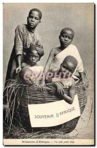 Postcard Old Missions & # 39Afrique A nice little nest