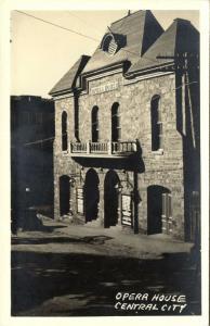 Central City, Colorado, Opera House (1930s) RPPC