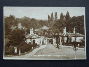 LEAMINGTON SPA Johnson Gardens CONCERTS The Royal Marines c1920's RP Postcard