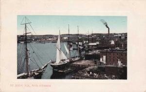 Harbor at St John NB, New Brunswick, Canada pm 1911