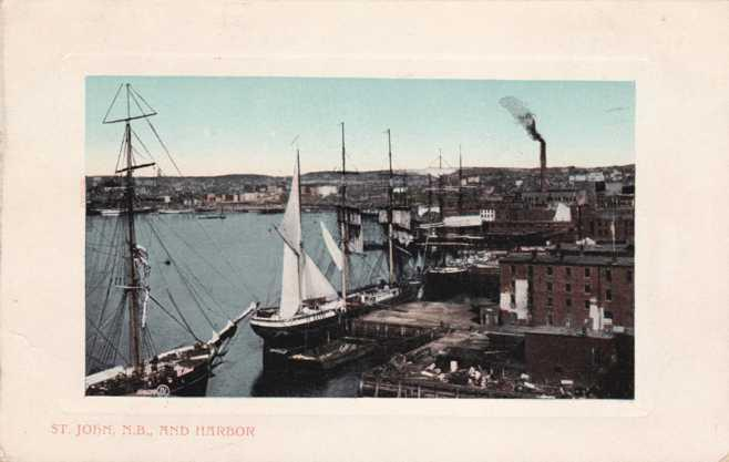 Harbor at St John NB, New Brunswick, Canada pm 1911