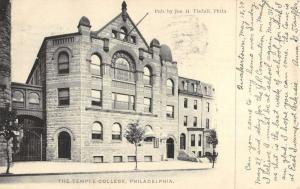 the temple college phildelphia pennsylvania antique postcard L3933