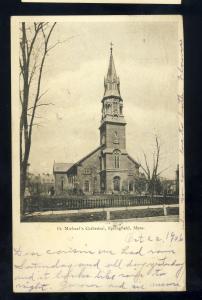 Springfield, Massachusetts/Mass/MA  Postcard, St Michael's Cathedral, 1906!
