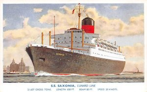 SS Saxonia Cunard Line Ship Unused