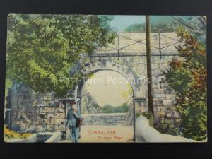Gibraltar EUROPA PASS c1908 Postcard by K&M with Commercial Tobacconist Shop Gib