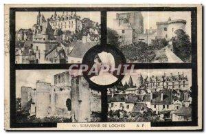 Old Postcard Souvenir De Loches Folklore Costume