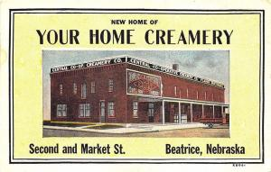 Beatrice NE Your Home of Creamery Delivery Truck Postcard