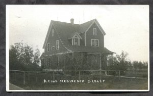 dc211 - SEDLEY Sask 1910s A Fine Residence.  Real Photo Postcard. FREE SHIPPING