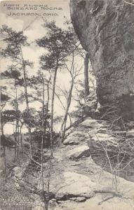 E58/ Jackson Ohio Postcard County c1910 Pat Along Buzzard Rocks