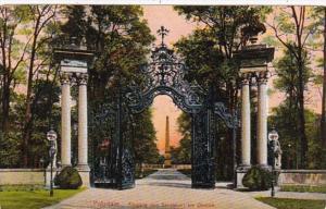 Germany Potsdam Eingang von Sanssouci am Obelisk