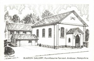 Art Postcard Bladon Gallery Hurstbourne Tarrant Andover Hants by Don Vincent AS1