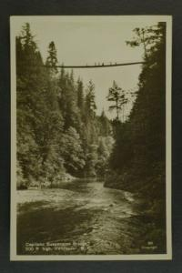 Capilano Suspension Bridge BC RPPC c30s-40s
