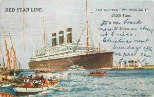 Burgenland Red Star Steamship 1927 Postcard  21-5947