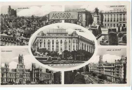RPPC Scenes from Madrid, Spain,: Standard size real photo