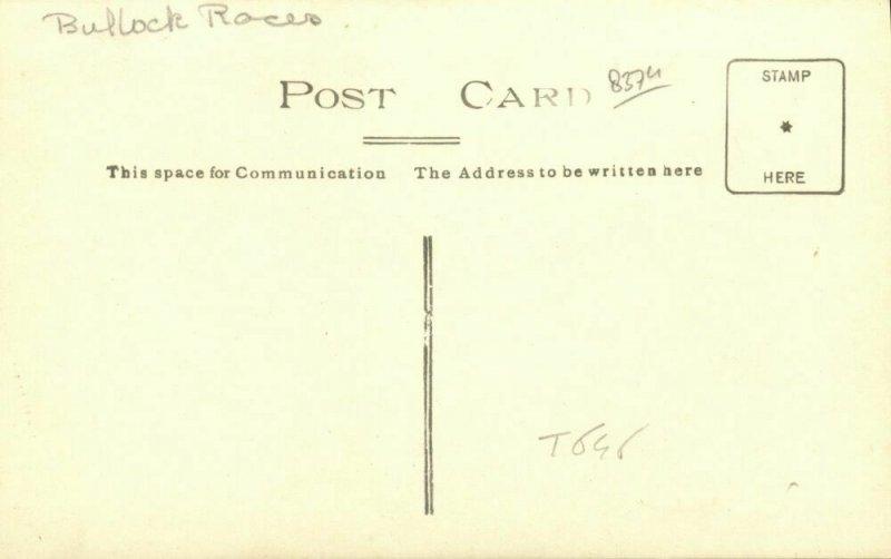 indonesia, JAVA BATAVIA, Karapan Sampi, Bull Races (1925) RPPC Postcard