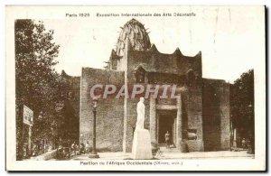Old Postcard Paris Decorative Arts Exposition The flag of Western & # 39afrique