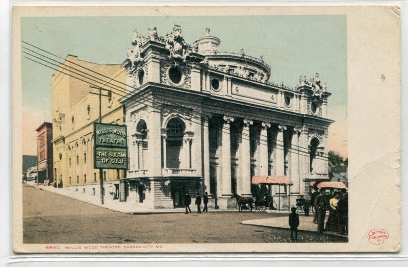 Willis Wood Theater Kansas City Missouri 1907c postcard