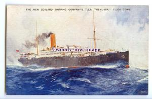 LS1262 - New Zealand Shipping Co Liner - Remuera - artist postcard