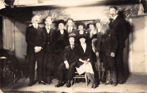 Meridale New York group posing for picture real photo antique pc (Y8147)