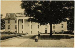 1930s Chestertown MD Maryland Reid Hall Washington College RARE Linen Postcard