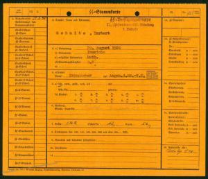 3rd Reich Germany Waffen SS 5th Art Regt Member File 73163