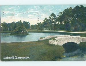 Pre-1907 PARK SCENE Jacksonville Florida FL hp9874