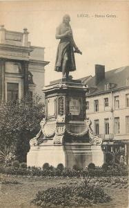 Liege Belgium~Statue Gretry~Statue of Gretry in Front of the Opera House 1940